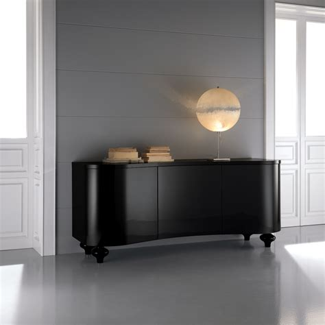 Black Sideboards by High End Designer Italian Black Buffet Sideboard