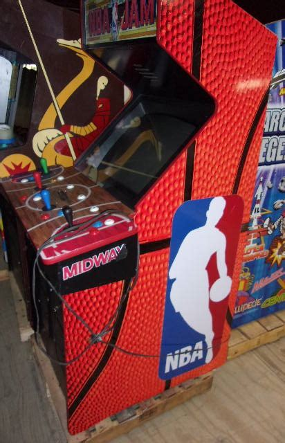 midway nba jam  player upright arcade machine game