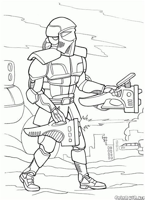 disegni da colorare guerre futuristiche