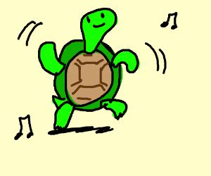 dancing turtle drawception
