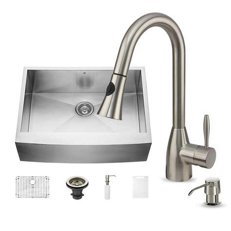 apron front single bowl kitchen sink vigo all in one farmhouse apron front stainless steel 30