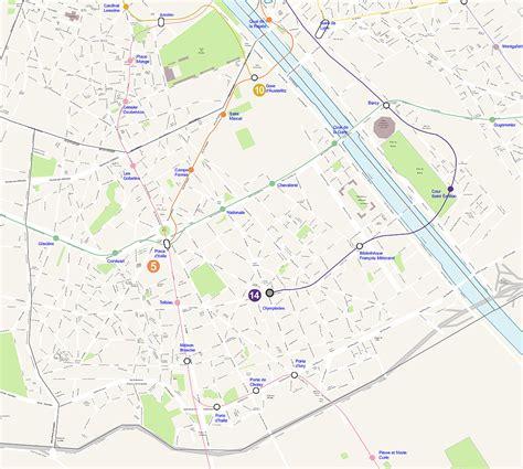 Carte Departement Parisien by Carte Plan Du 13 Eme Arrondissement De