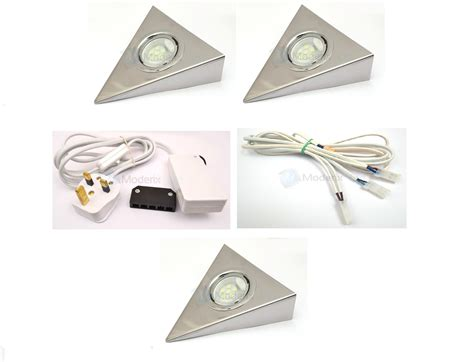 led triangle chrome kitchen cabinet cupboard light