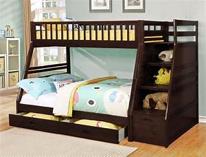 24, Designs, Of, Bunk, Beds, With, Steps, Kids, Love, These