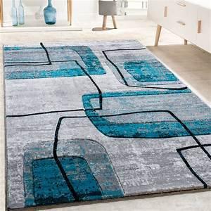 Teppich Türkis Grau : designer teppich retro grau t rkis design teppiche ~ Markanthonyermac.com Haus und Dekorationen