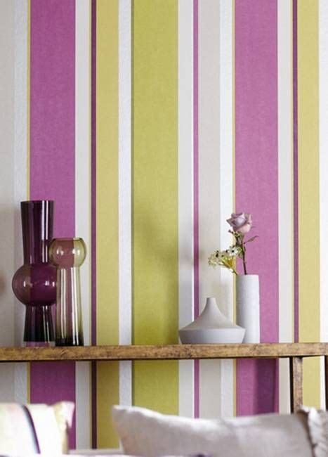 vertical stripes  modern interior design  room