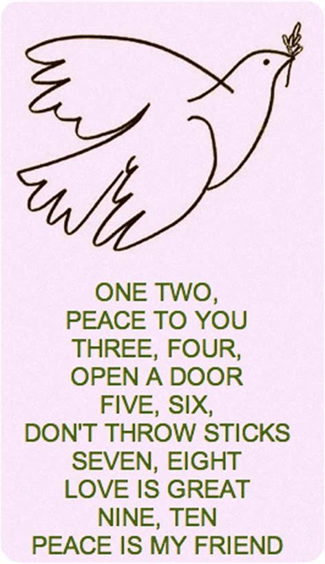 Resultado de imagen de poesia de paz e ingles con numeros