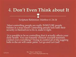 Controlling - Bible Study