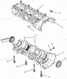 Polaris Snowmobile 1994 Oem Parts Diagram For Crankcase