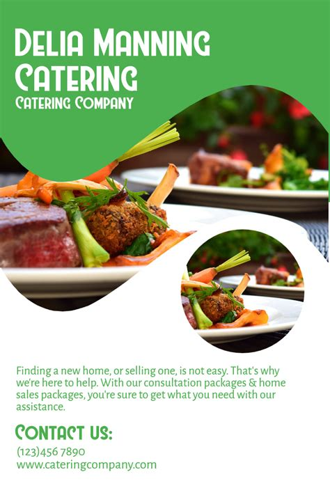 consulting cuisine catering company catering food business poster