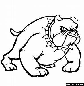 Bulldog Coloring Page   Free Bulldog Online Coloring ...