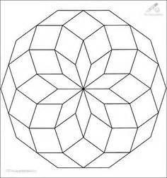 Schablonen Gratis Hexagons Pentagons Dreiecke Quadrate