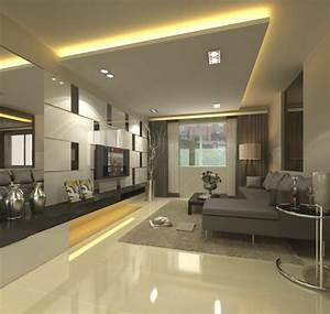 le faux plafond suspendu est une deco pratique pour l With salle de bain design avec salle de séjour décoration