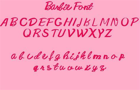 barbie font cumpleanos pinterest fonts fans  art