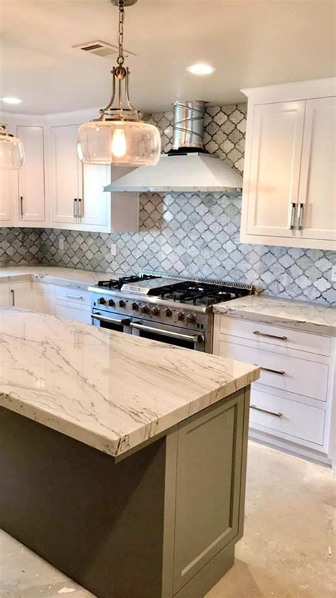 finished  kitchen  infinity quartzite counter tops  time   ho  images