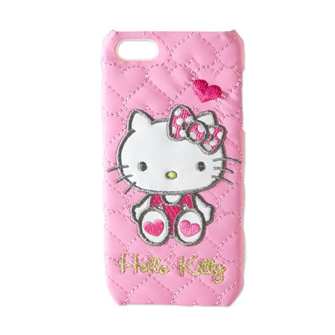 hello kitty iphone 5 hello kitty iphone 5 cover type quilting leather pink sanrio japan in a box
