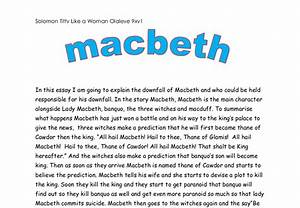 macbeth is responsible for his downfall essay