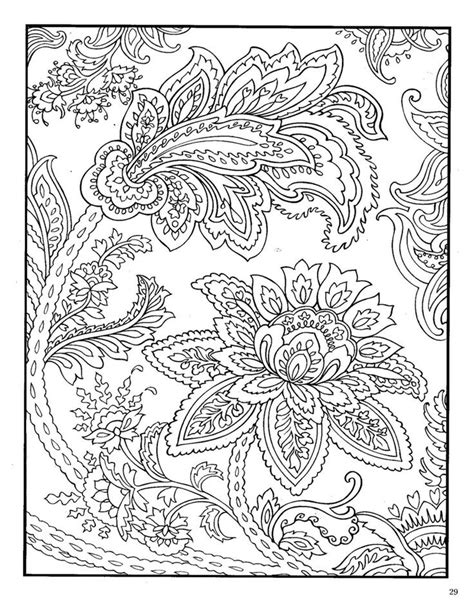 paisley coloring pages  adults dover paisley designs