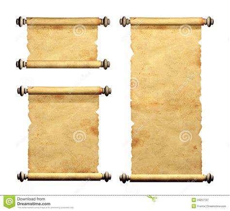 insieme di vecchie pergamene fotografia stock libera da diritti immagine 24257137