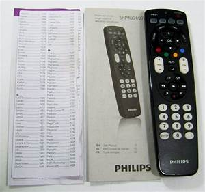 Philips Srp4004  27 Universal 4 In 1 Remote Control For Tv
