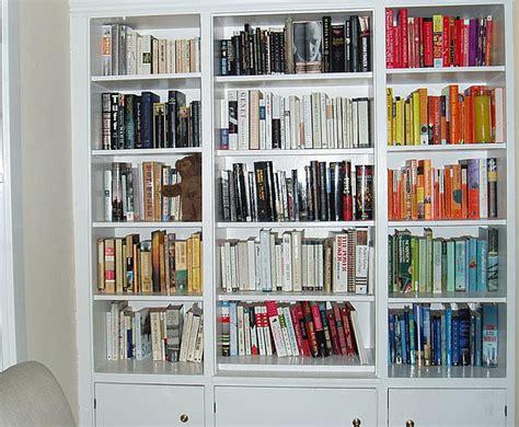 Dressing My Walls Colorcoordinated Bookshelf  Popsugar Home