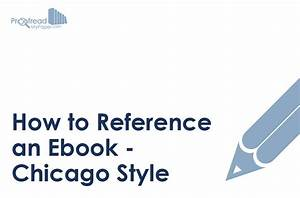 How To Reference An Ebook  U2013 Chicago Style