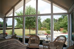 Sunroom Decor Idea Window Screened Porch Sunroom Big Clear Glass Replace Wall Install Plastic For Screen Porch Window Covers