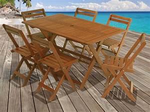 Table Jardin En Bois : salon de jardin en bois exotique tropical marron acajou table pliante 135 x 80 x h74 cm 6 ~ Dode.kayakingforconservation.com Idées de Décoration