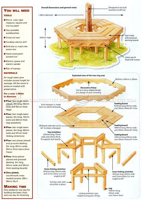 tree bench plans woodarchivist