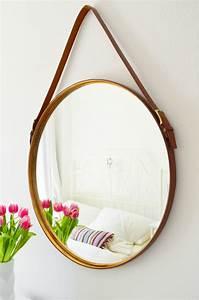 Spiegel Holz Rund : make it boho diy captain s mirror spiegel mit lederg rteln ~ Whattoseeinmadrid.com Haus und Dekorationen