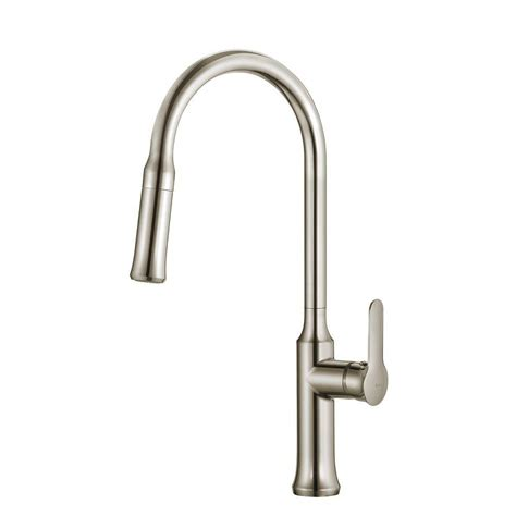 kitchen faucet finishes kraus nola single lever pull kitchen faucet stainless