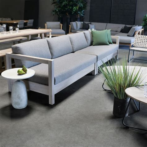 kent street teak left arm sectional outdoor furniture