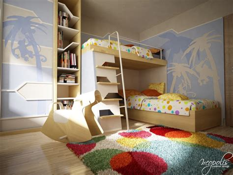 Original Children's Bedroom Design Showcasing Vibrant