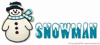 Snowman Cookie Clipart Clip Cookies Christmas Projects
