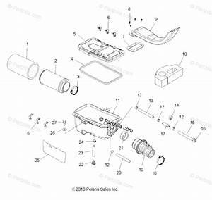Polaris Atv 2011 Oem Parts Diagram For Engine  Air Intake System