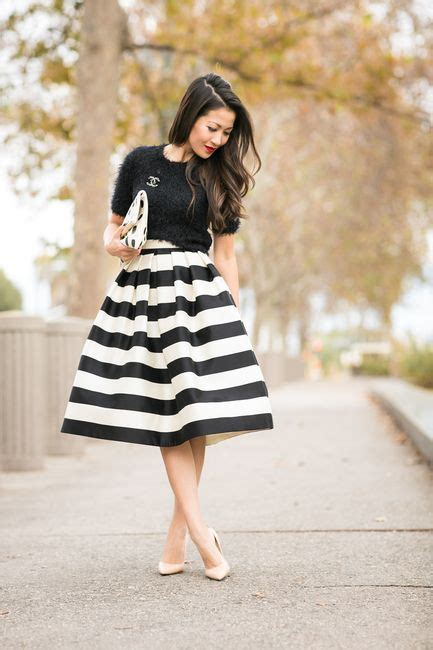 Striped Skirts Design Ideas for Trendy Women u2013 Designers Outfits Collection