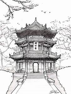 famous japanese temples drawings - Google Search | Art ...