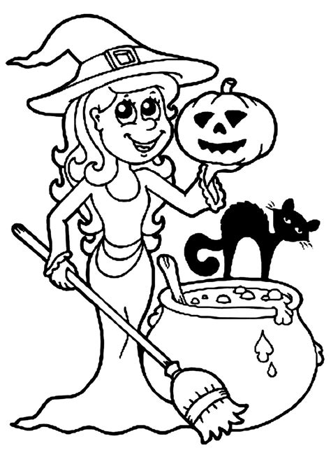 Halloween free to color for kids Halloween Kids Coloring
