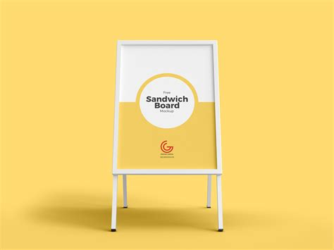 outdoor advertisement sandwich board mockup  mockup