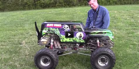 monster trucks video 1 4th scale gas powered rc grave digger must watch this