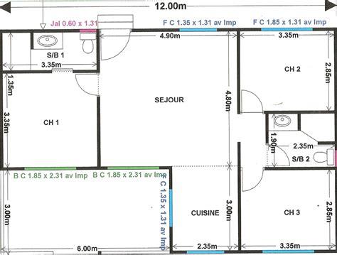 cuisine archa 239 quement plan de maison en l plan de
