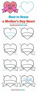 How to Draw a Mother's Day Heart - Really Easy Drawing ...