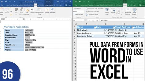 exporting word form data to excel youtube