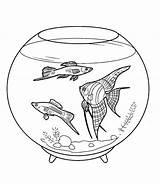 Fish Coloring Tank Bowl Pet Pretty Fun Netart sketch template