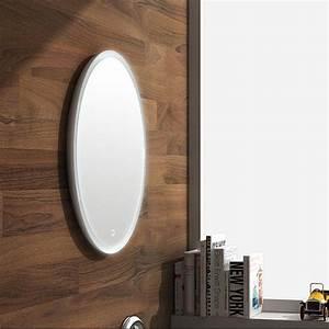 Miroir 2 Metre : miroir salle de bain rond en r sine min rale 70 cm miroir led ~ Teatrodelosmanantiales.com Idées de Décoration