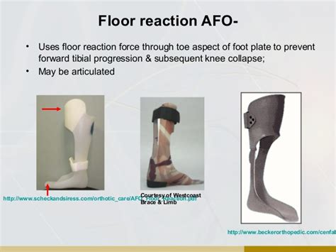Floor Reaction Afo Cascade by Orthotic Overview