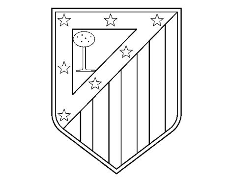 coloriage de blason du club atletico de madrid pour