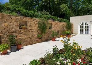 Sichtschutz Mauer Naturstein : mauer terrasse sichtschutz gneis mauern schubert stone ~ Michelbontemps.com Haus und Dekorationen