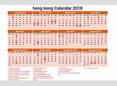 2018 Calendar Hong Kong calendar for 2019