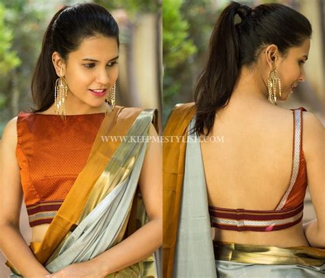 Boat Neck Blouse With Saree by Plain Sarees With Designer Blouse 40 Creative Ideas